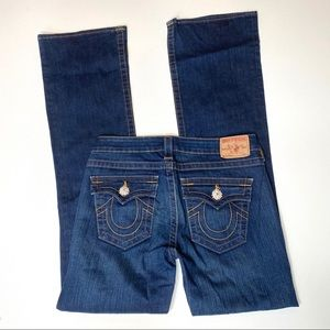 True Religion pave crystal Becky boot jeans sz 29